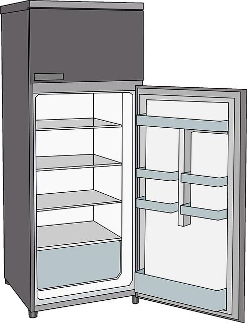 Extremidades integradas de las compras del congelador de refrigerado